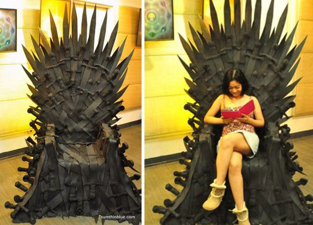 DIY Rubber Throne | Community Post: 10 Cool Game Of Thrones Chair Ideas