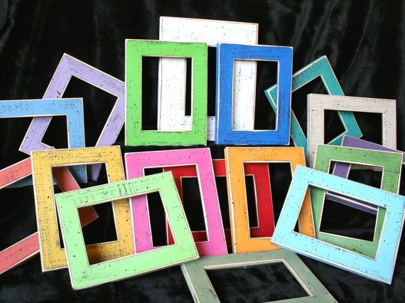 colored picture frames 6 8x8 or 8x10 picture frames style you choose from 63 colors picture frame package