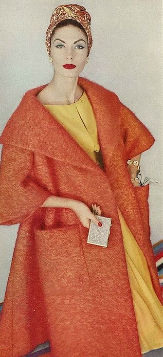 1958 - my mother had this coat when I was little...I remember it weighed a ton - but she was one stylish mama!