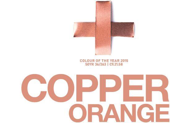 Koper, de kleur van 2015!