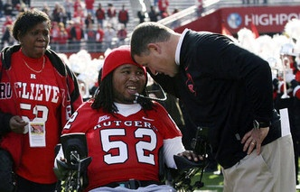 Eric LeGrand played defensive tackle for the Rutgers Scarlet Knights until an on field injury paralyzed him in October of 2010. LeGrand's dreams of one day signing with an NFL team appeared they'd forever stay just that, a dream. But those dreams became a reality Wednesday.   Tampa Bay Buccaneers head coach, and former Rutgers coach, Greg Schiano, signed LeGrand to the Bucs on May, 2. That day was picked to represent LeGrand's number, 52