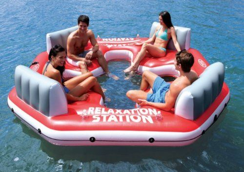 Fancy - Relaxation Station Water Lounge 4-Person River Tube