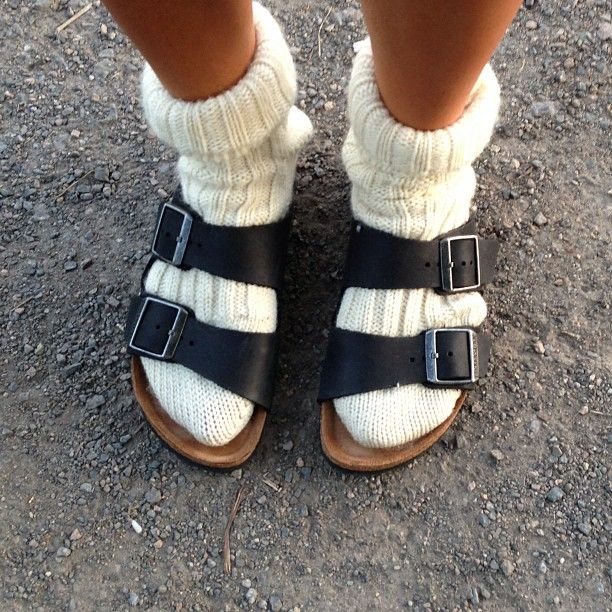 I know, I know. It's ridiculous.  But I admit, I've worn big thick socks with my Birks.  They were my most favorite shoes for 17 years. And then Carmen ate one.