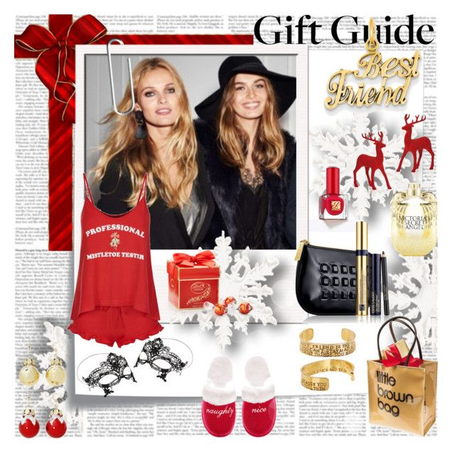 Bestie Gift Guide by stylepersonal on Polyvore featuring polyvore, fashion, style, Wildfox, Victoria's Secret, Accessorize, Alisa Michelle, Estée Lauder, Bloomingdale's, Massimo Dutti, Post-It, Kevin Jewelers, Mixit and giftguide