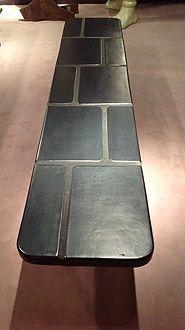 tiled vintage tile bench by Georges Jouve
