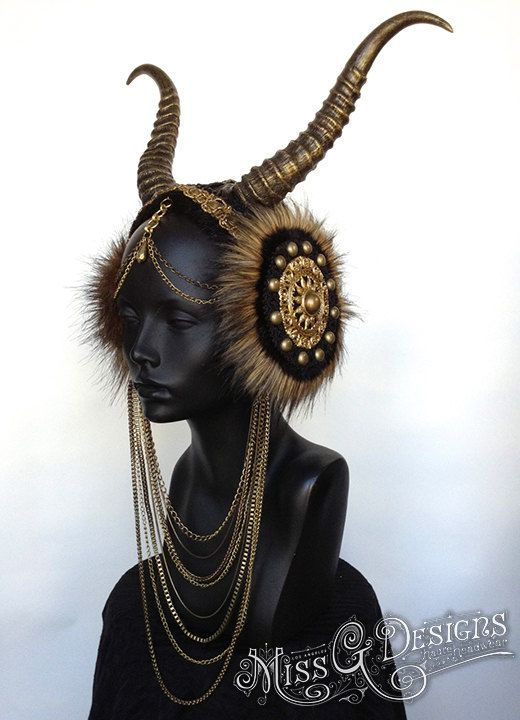 Hey, I found this really awesome Etsy listing at https://www.etsy.com/listing/177902581/made-to-order-vegan-faux-horn-headdress