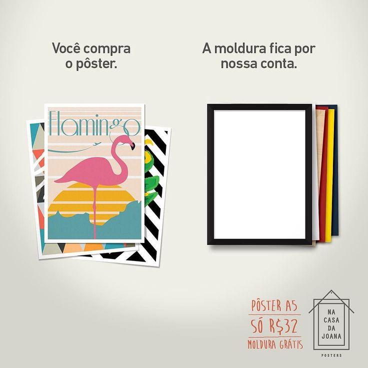 Aqui #nacasadajoana  você compra o pôster no tamanho A5 (15x21cm) e a moldura é por nossa conta.  Aproveite a promoção são 50 artes incríveis para você escolher. Visite http://ift.tt/1dqyBxz e conheça todas.  - #nacasadajoana #abaixoasparedesvazias #pôster #posters #quadros #enquadrados #design #decoração #decor #interiordesign #pinterest #meunacasadajoana #casa #lar