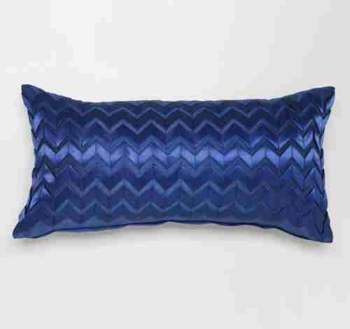 Long Cushion Chevron Navy
