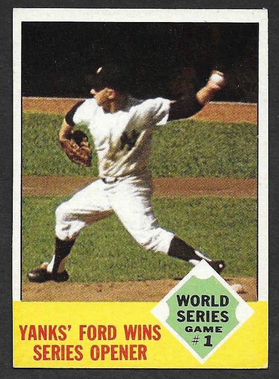 1963 Topps#142 World Series Game 1 Whitey Ford Wins Opener New York Yankees NRMT #NewYorkYankees