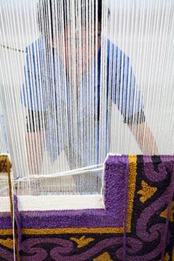 Mejores 14 im genes de tejiendo en pinterest alfombra for Tejido persa