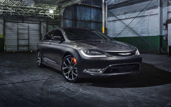 Descargar fondos de pantalla Chrysler 200C Platino de 2017, los coches, automóviles, coches americanos, Chrysler