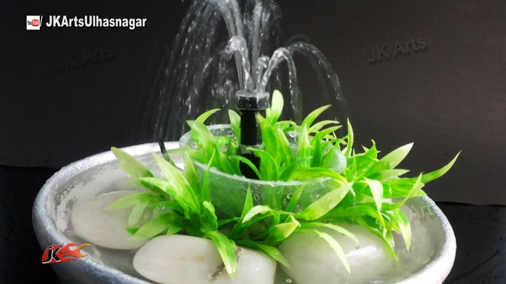 1 easy waterfall centerpiece for Homemade tabletop water fountain
