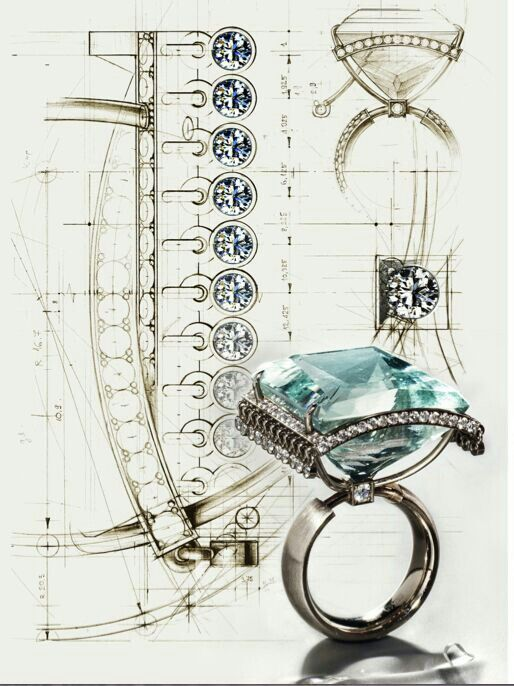 Vlad Glynin, design illustration, jewelry, rings