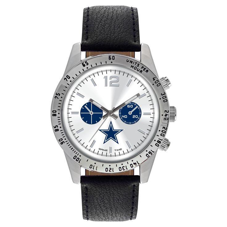 Men's Game Time NFL Letterman Sports Watch - Black - Dallas Cowboys