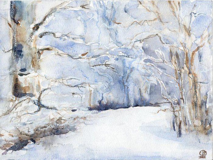 Winter Landscape in Park Oostduin, EBM 2002