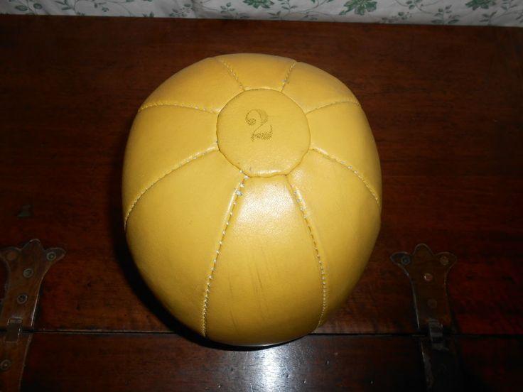 PALLA MEDICA KG 2 IN CUOIO VINTAGE CUCITA A MANO MEDICINE BALL LEATHER, HAND S