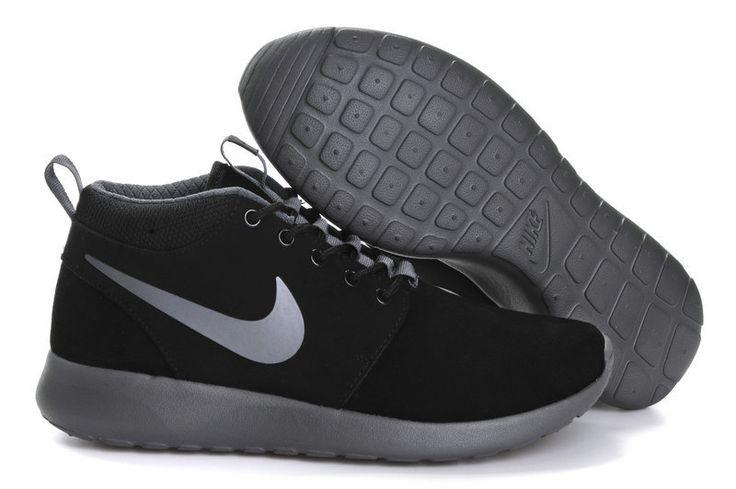 2014 nike roshe run high top black gray men running shoes 40-44  $98 free shipping fee