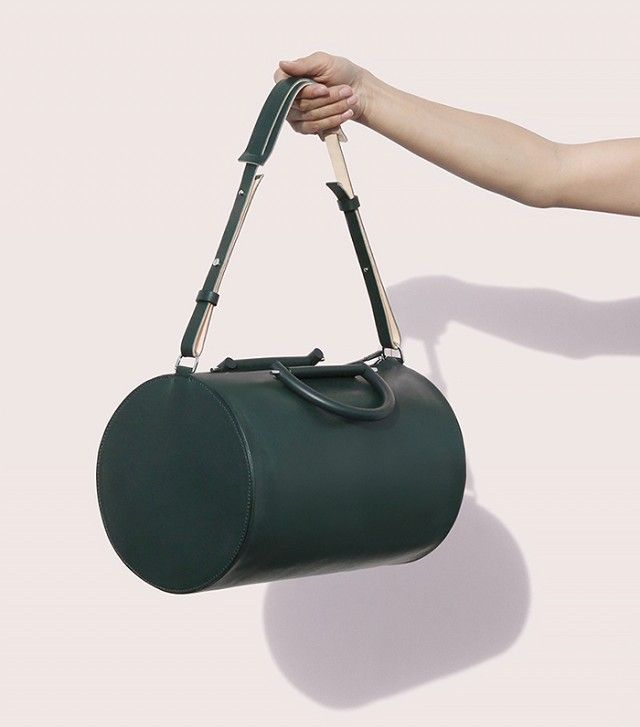 Building Block Cylinder Duffle in Green