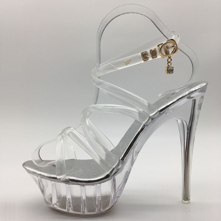 New Summer Platform sexy clear pvc strappy sandals Shoe for stripper pole dance Women Large Size High. Click visit to read descriptions