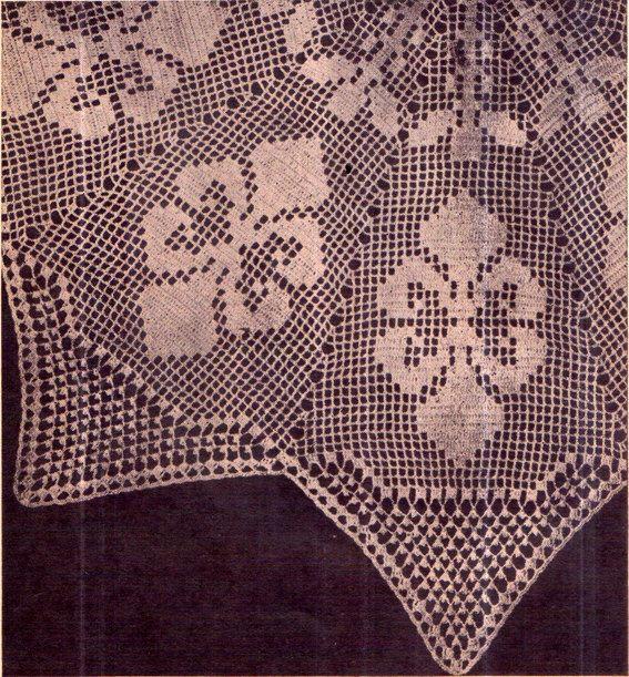 PDF Antique 'Fleur Des Lis' Doily Crochet by TheAtticofKitsch