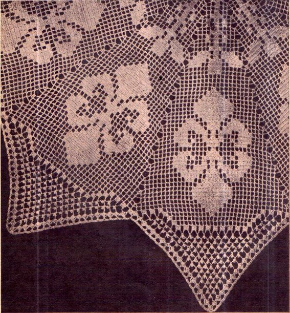 PDF Antique 'Fleur Des Lis' Doily Crochet by TheAtticofKitsch