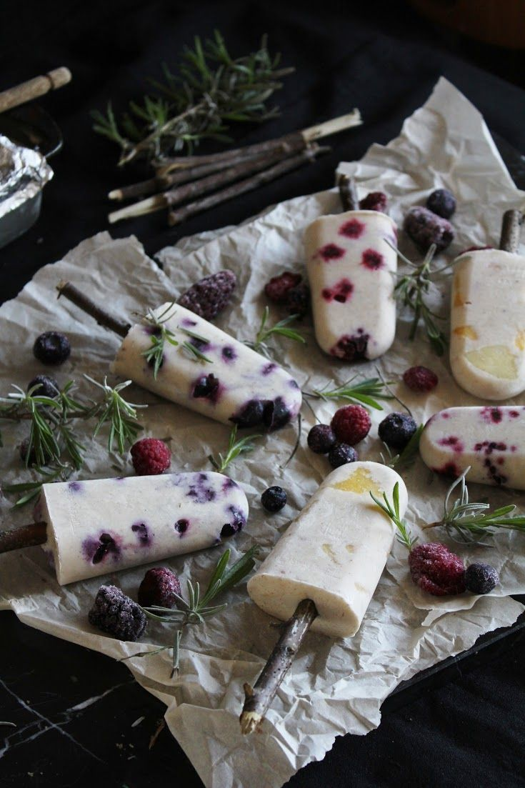 This Rawsome Vegan Life: fruit + thyme popsicles with coconut milk