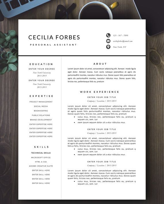 19 best Resume Templates Microsoft WORD images on Pinterest - cover letter and resume templates for microsoft word