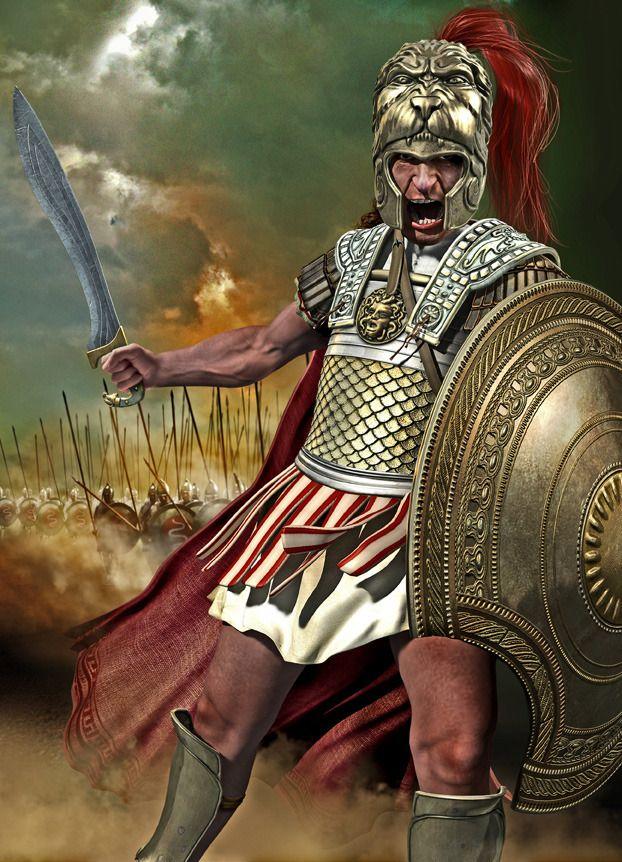 чтобы картинки доспехи воинов александра македонского между ними
