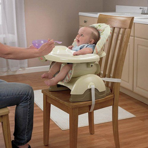 Check Fisher Price Space Saver High Chair Booster Seat of Woodsy Friends from Toddler Dining Room Chairs for Feeding on Table