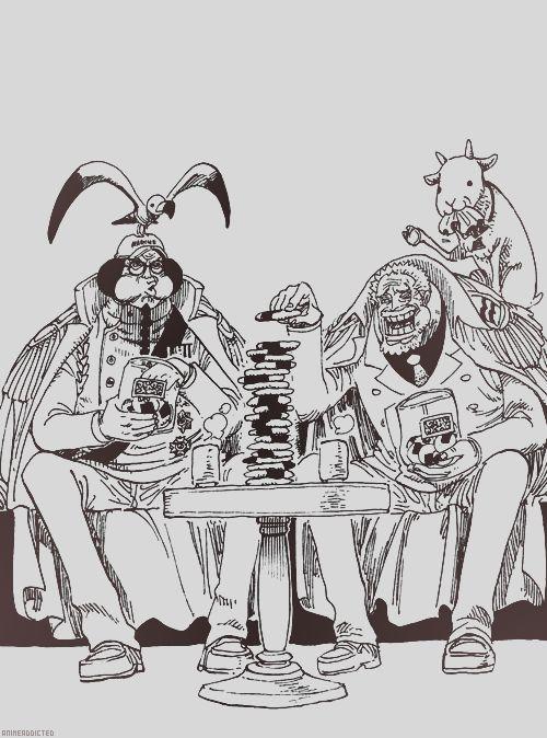 Sengoku and Garp.