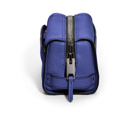 GILBANO Leather Wash Bag - Mews - Electric Blue