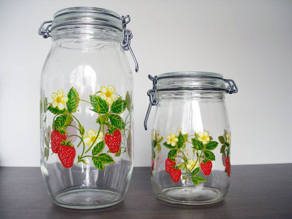Have Some Of These For My Strawberry Kitchen. Great For Storing Rice U0026  Dried Beans