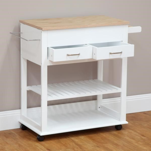 NEW Kitchen Trolley Island With Lift-up Counter Top Bench