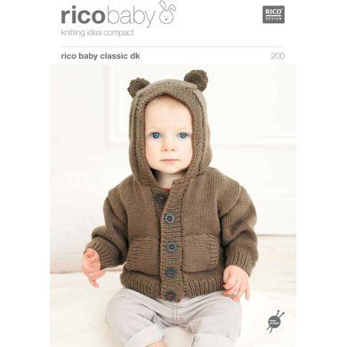 Babies' Hoodies in Rico Baby Classic DK - 200. Discover more Patterns by Rico at LoveKnitting. We stock yarns, needles, books and patterns from all of your favourite brands.