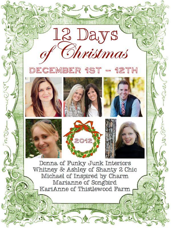 12 Days of amazing Christmas inspiration: Link Parties, Christmas Inspiration, 60 Inspiration, Gift Ideas, Crafts Fun, Funky Junk Interiors, Christmas Decor, Christmas Blog, Blog Events