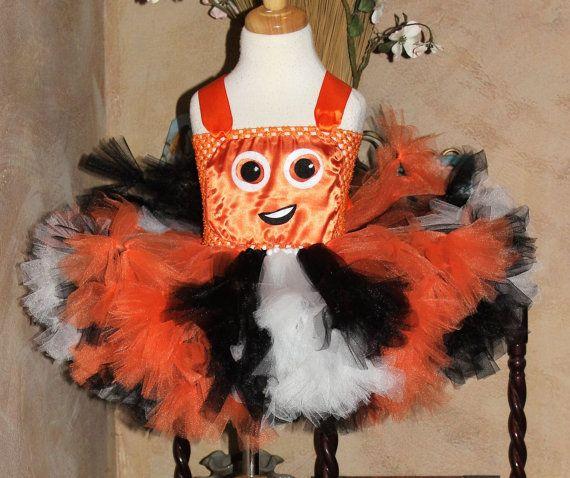 Petti tied Tutu Dress Halloween Costume, Nemo Petti Tutu, Finding Dory NEMO Tutu Halloween Costume by HandpickedHandmade on etsy.  Nemo tutu dress, Disney Halloween Costume, Disney Tutu dress, Disney Nemo Tutu Dress, Nemo Birthday Party Outift, Nemo BIrthday Dress, Fancy Tutu, Unique Tutu, Halloween 2016, Character Tutu Costume, Popular Tutu Costume Dress, Girls Popular Tutu