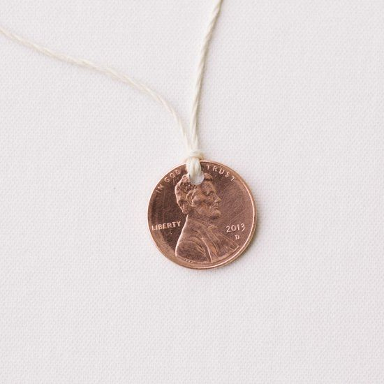 Make a simple lucky penny necklace to wear on Lucky Penny Day - May 23.