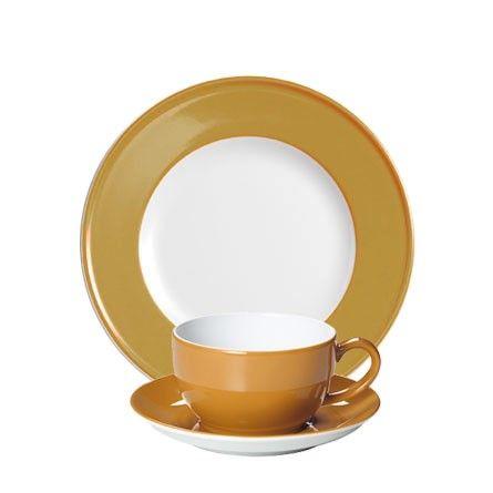 #Dibbern Solid Color Bernstein - Frühstücksgedeck