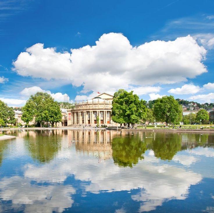 Opera House, Stuttgart , Deutschland schöne europäische Landschaft ...