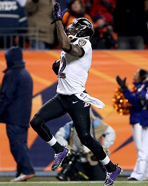 Jacoby Jones game tying score during Ravens / Broncos payoff game.