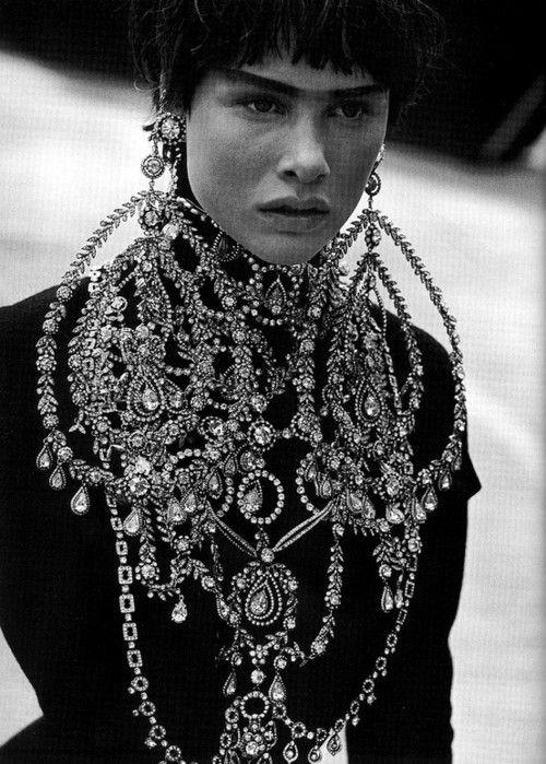earrings: John Galliano, Italian Vogue, Christian Dior, Christiandior, Peter O'Tool, Peter Lindbergh, Dior Couture, Bling Bling, Haute Couture