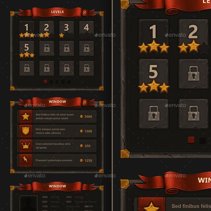 Fantasy Mobile Game Interface