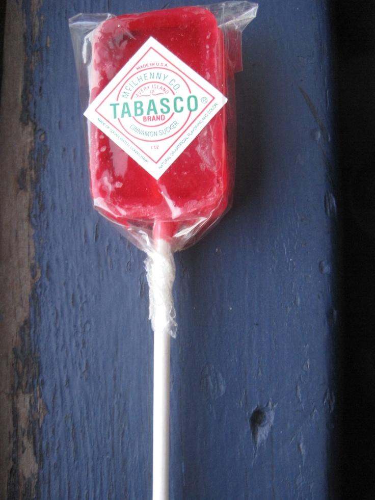 Tabasco lollipop via crampmystyle.tv