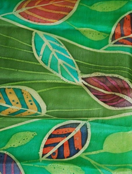 Original silk batik scarves 180 x 45 cms. Any colour way undertaken no two the same but similar can be made