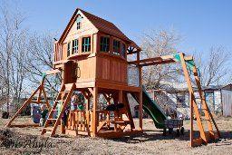 Backyard play fort