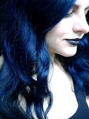 After Midnight Blue hair color