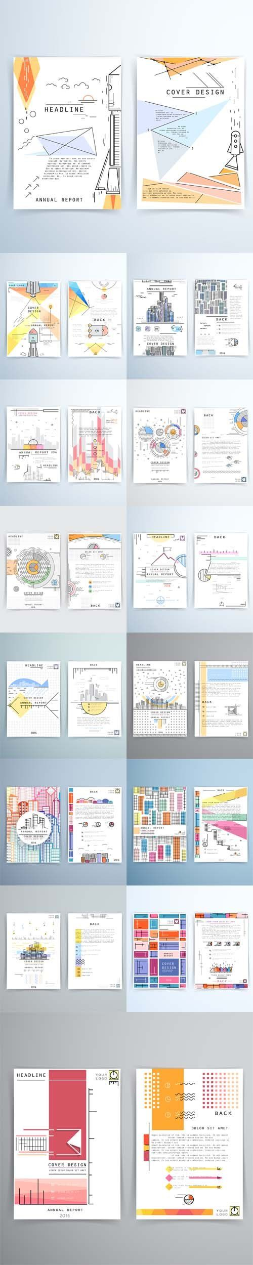 Vector Cover design annual report. Template brochures flyers business presentations