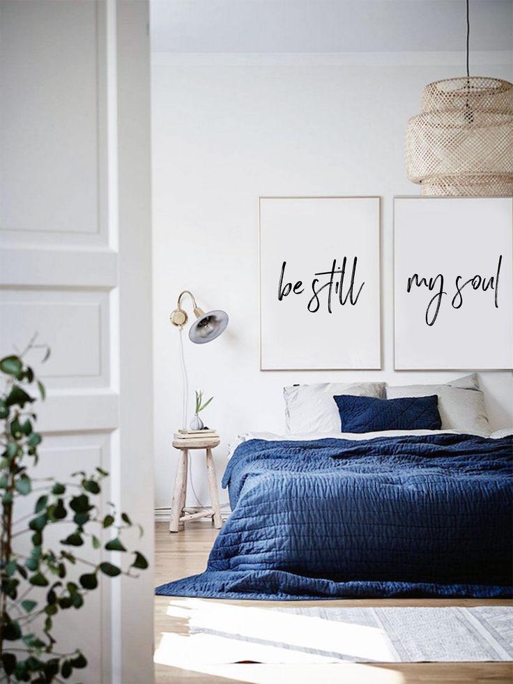 Be Still My Soul - Artwork - Minimalist Bedroom