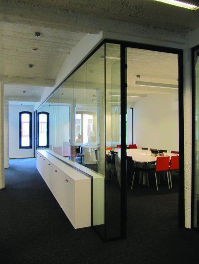 Removable partition / glass / acoustic / for offices - CITTERIO - TecnoSpace