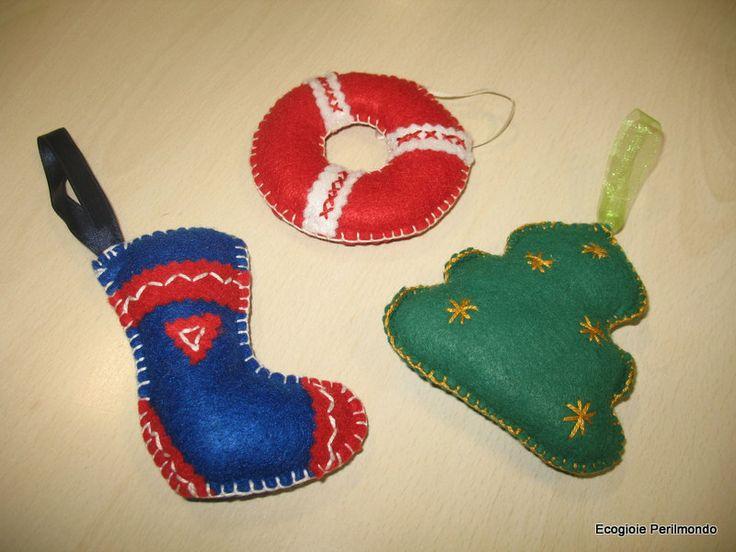 Xmas Felt Decorations available on http://www.etsy.com/shop/EcoGioiePerilmondo